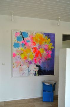 Exhibition of the painting Flower #2 - 140x140. An abstract floral painting by artist Tove Andresen...beautiful!!