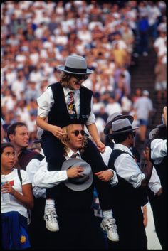 Rice University MOB members at a football game, 1998