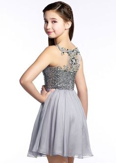 Lexie by Mon Cheri TW21542 Tween Sequined Short Dress, Bat Mitzvah Dresses, Girls Dresses