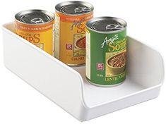 "Amazon.com: mDesign Refrigerator, Freezer, Pantry Cabinet Tray Organizer for Kitchen Storage - 11"" x 7"" x 3.5"", White: Kitchen & Dining"