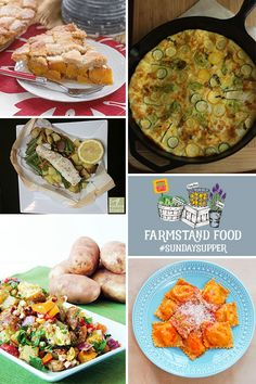 Farmstand Food recipes from your friends at #SundaySupper