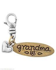Brass, Sterling Silver Grandma Charm $34.00  click on picture to order today...www.silpada.com/coni.otto