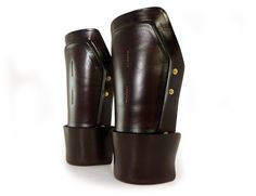 New molded leather steampunk bracers from Mann&Co