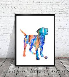 Labrador 5 Watercolor Print, Labrador art, Home Decor, dog watercolor, watercolor painting, animal watercolor, dog art, print art