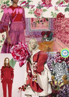 Cherry Rouge Rose SS/19 - Mirella Bruno Print Pattern and Trend Designs. trends, Fashion,… - #trends #trend #searches #treding