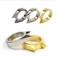2017 SUPIN Unisex Metal Cat Self-defense Window Breaker Stainless Steel Ring Outdoor Anti Wolf Hand Fingers Men Lady Rings