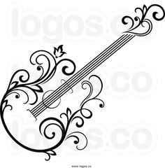royalty free clip art vector logo of a black and white floral vine rh pinterest com royalty free clip art images free royalty free clip art images free