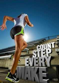 Make every step count. Choose your fit.  on We Heart It - http://weheartit.com/entry/58858578/via/methodicallife