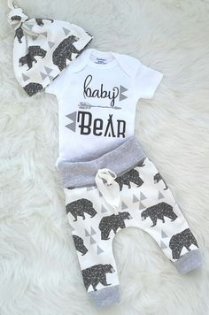 1a84e6cf8c Baby boy coming home outfit baby bear  take home outfit  newborn  boy organic cotton