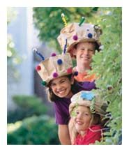 "Paper bag hats... GREAT for ""The Lorax"" unit and Dr. Seuss' birthday next week!"