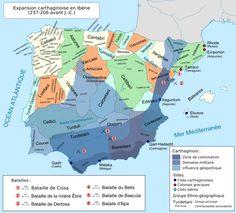 La expansión púnica en la Península Ibérica, (237 - 206 a.C.).