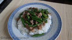 Japanische grüne Bohnen mit Hackfleisch   asien-kulinarisch.de