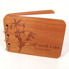 wooden guest book/photo album