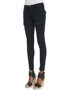 Joie So Real Skinny Pants, Navy (Stylist Pick! Joie Clothing, Skinny Cargo Pants, Stylist Pick, Black Models, Linen Pants, Neiman Marcus, Pants For Women, Black Jeans, My Style