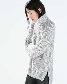 ZARA - NEW THIS WEEK - TWO-TONE SWEATER