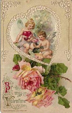 Pretty vintage Valentine Card
