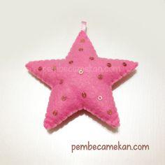 Pembe yıldız. Keçe ile ilgili hayal edebileceğiniz her türlü tasarım