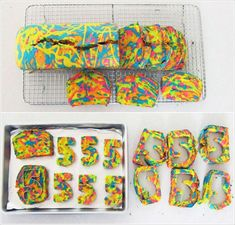 Amazing Rainbow Tie-Dye Number Surprise Cake ...ain't nobody got time for dat...