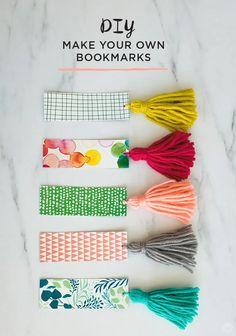 Bookmark Printable, Bookmark Craft, Bookmark Ideas, Creative Bookmarks, Diy Bookmarks, Corner Bookmarks, How To Make Bookmarks, Crochet Bookmarks, Diy Tassel