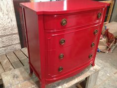 Red red dresser