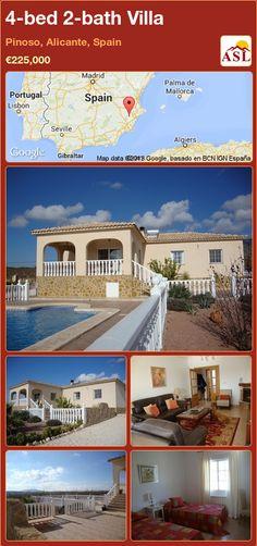 4-bed 2-bath Villa in Pinoso, Alicante, Spain ►€225,000 #PropertyForSaleInSpain
