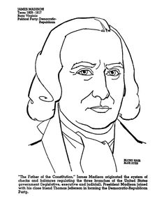 presidents day james madison coloring page