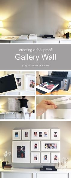 Incredibly easy way to design and layout a gallery wall in your bedroom, living room or even down a staircase in your home. Great ideas to display your photos in any space. #DIY