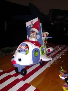 Elf on the Shelf arrived in a plane tonight!
