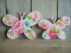 Lieve vlinders met pip behang. Gemaakt door Fleurig&Kleurig (fleurigenkleurig@hotmail.com).
