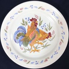 Corelle Country Morning Rooster Dessert Bread Salad Plates 7.25\  Replacement #CorelleVitrelle  sc 1 st  Pinterest & Corelle Country Morning | w list | Pinterest | Mornings and Country