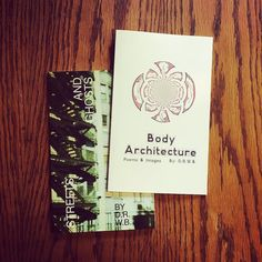 Body Architecture and Streets and Ghosts are two #poetry #zine collections by @wabisabizinez. this fellow nyc-georgian #poet explores buildings and bodies cities and scenes and quiet reflections of how we live and move. Check out his profile and support his current Kickstarter for lots of unique zines. #writer #artist #nycart #gay #queer