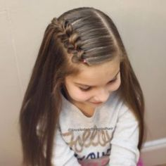 Hair tutorial You are in the right place about cute baby girl hairstyles Here we offer you the most Side Braid Hairstyles, Baby Girl Hairstyles, Braided Hairstyles Tutorials, Cute Little Girl Hairstyles, Princess Hairstyles, Easy Toddler Hairstyles, Childrens Hairstyles, Hairstyles For School Girls, Simple Hairstyles For Girls