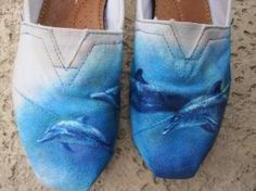 These dolphin TOMS will go great with my trendy dolphin tattoo