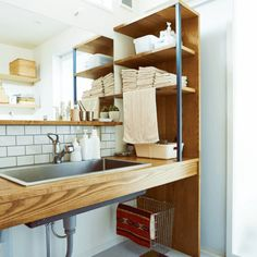 Job of home / job / Bathroom / wire basket / steel shelf / fixtures wash basin ... interior example of such - 2016-02-11 22:14:28 | RoomClip (Room clip)