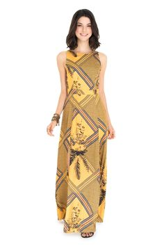 Vestido longo estampado arizona | Dress to