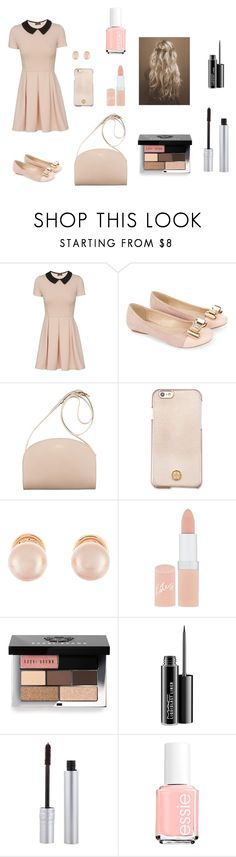 """Something Pink "" by louisse-betina ❤ liked on Polyvore featuring Monsoon, Tory Burch, Kenneth Jay Lane, Rimmel, Bobbi Brown Cosmetics, MAC Cosmetics, T. LeClerc and Essie"