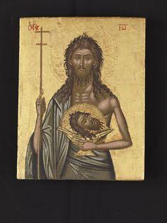 Byzantine Icons, John The Baptist, Orthodox Icons, Online Collections, Fashion History, 17th Century, Art Museum, Folk Art, Saints