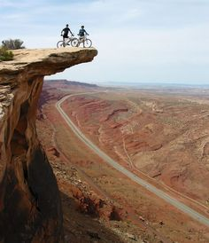Gold Bar Rim, near Moab UT Utah mountain bike biking Colorado Plateau sandstone slickrock red rock