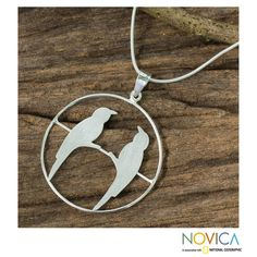 Novica Handcrafted Sterling 'Life Mates' Necklace