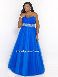 2015 Style A-line Sweetheart Floor-length Tulle Prom Dress