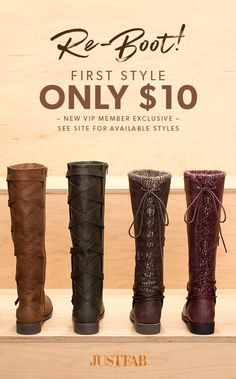 December Deals are In! - Get Your First Pair of Boots for Only $10! Take the 60 Second Style Quiz to get this exclusive offer!