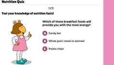 Nutrition Quiz | Health and Physical Education | Classroom Resources | PBS LearningMedia