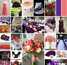 Coral and Purple Wedding