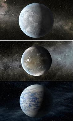 After four years circling space looking for new planets, the Kepler spacecraft has identified three planets that look like they could possibly sustain life. The first two, (Kepler-62e & Kepler-62f shown above, top and middle), are approximately 1,200 light-years away and have estimated temperatures of -3 degrees C (26.6 F) and -65 degrees C (-85 F) respectively. The third planet, Kepler-69c (shown above, bottom) boasts a summer day-like temperature of 27 degrees C (80.6 F).
