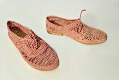 Pink Shoes. Handmade Raffia Shoes. Women's by OscarAndShades