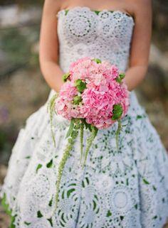 Vestido de novia a crochet! wow!
