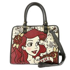 Loungefly Ariel True Love Tote Bag TanMulti -- You can find more details by visiting the image link.Note:It is affiliate link to Amazon.