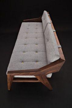 Modern Wood Furniture, Handmade Furniture, Home Decor Furniture, Sofa Furniture, Furniture Design, Chair Design, Wooden Sofa Set Designs, Living Room Sofa Design, Wood Sofa