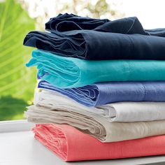 Solid Linen Sheets in lovely colors | The Company Store