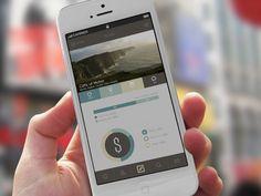 TakeMe App by Sanja Zakovska - via Dribble Mobile Web Design, Web Ui Design, Flat Design, Retro Design, Graphic Design, Mobile App Templates, Mobile App Ui, Ui Design Inspiration, User Interface Design
